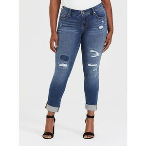 Torrid Boyfriend Vintage Stretch Jeans 14R Patch